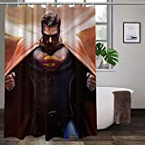 Superman-Duschvorhang aus Polyester, langlebig, hochtemperaturwiderstandsfähig, ungiftig, geruchlos.