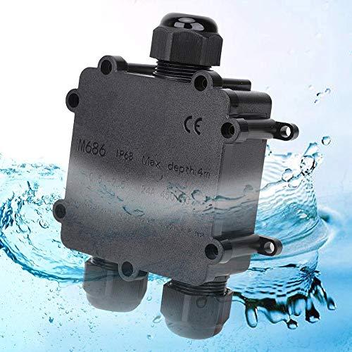 Anschlussdose, Kunststoff Im Freien Wasserdicht IP68 3-polige Steckerleitung M686 Kabelstecker Elektrisches externes Netzkabel Anschlussdosen mit V0-Niveau Feuer- und Flammschutzmittel (Y-Typ)