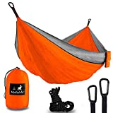MalloMe Hammock Camping Portable Double Tree Hammocks - Outdoor Indoor 2 Person Beach Accessories Backpacking Travel Equipment Kids Max 1000 lbs Breaking Capacity - Two Carabiners Free