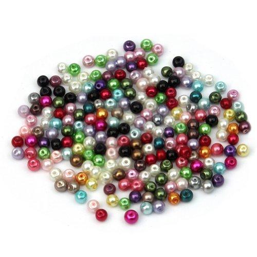 500pcs couleur mélangée ronde verre Perles vrac 4mm Spacer bijoux Artisanat