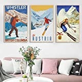 XuFan Ski Poster Italien Dolomiten Cortina Reise Reise