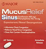 [2 Pack of 60] Mucus Relief PE Generic for Mucinex Sinus Congestion IR Tablets 60 Count