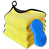 3PCS Microfiber Towels For Cars-Extra Thick Car...