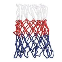 SIKIWIND バスケット ゴール リング ネット 12ループ 替えネットトレーニング レジャー ファミリースポーツ (5mm カラー:レッド+ホワイト+ブルー)