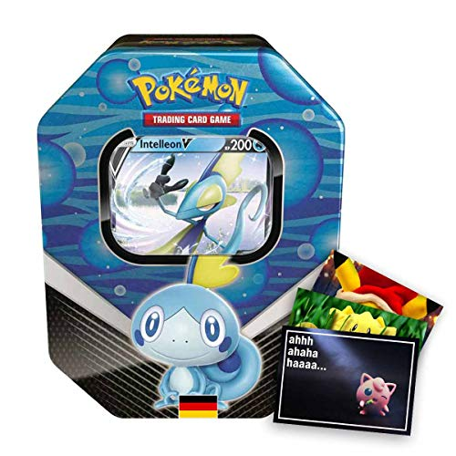 Lively Moments Pokemon Karten Tin Box SCSH01 Schwert und Schild Intelleon V Sammelkartenspiel Deutsch DE / Metallbox + Exclusive GRATIS Grußkarte