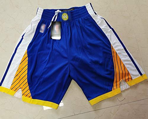 XXMM NBA Golden State Warriors Pantalones Cortos De Baloncesto Deportes Ocasionales De Los Hombres Ejercicio De Secado Rápido De Secado Rápido Ejecutar Pantalones Cortos,Azul,L