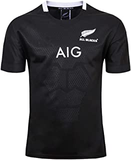 Hombre Rugby Jersey World Cup 2019-20 All Black Home/Away Fan Casual Verano Cuello Redondo CháNdales Copa Mundial Respirable Uniforme Top