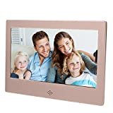 Epyz HD Ready Digital Photo Frame with Fully Functional Remote (7' inch, Gold)