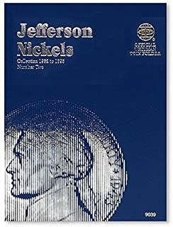 Coin Folders Nickels: Jefferson 1962 to 1995 Number Two (Official Whitman Coin Folder)