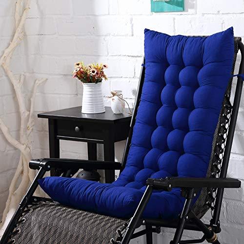 tonywu Rocking Chair Mat, Microfiber Chair Pad Seat Cushion, Reduces Pressure, Supple Sofa Cushions Seat Pad Hotel Office Lounger Pads 40X110cm blue