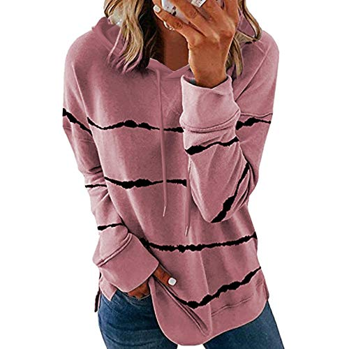 Hoodies for Women Pullover Graphic Women Long Sleeve Sweatshirt Colorblock Tie Dye Printed Pullover Tops(S-2XL)