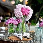 Partycards Marque Place pour Mariage, Baptême, Anniversaire, Noel | Porte Nom de Table en Papier - 50 Cartes Porte Prénom, A7 (Modèle :Vagues,Or Noir) #4