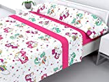 Cabello Textil Hogar - Juego de sábanas Infantiles de coralina con 3 Piezas Extremadamente Suaves y...