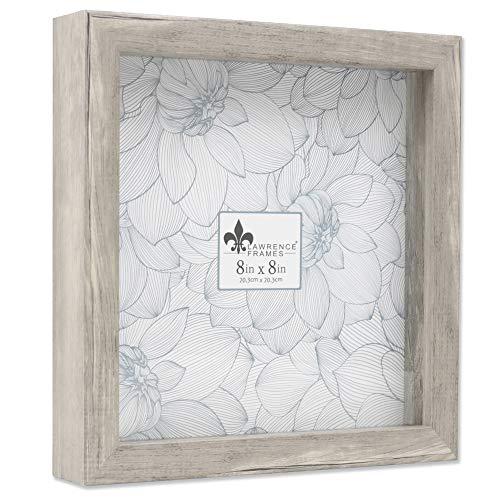 Lawrence Frames Shadow Box Frame, 8x8, Natural Gray