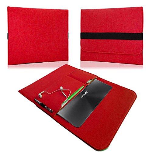NAUC Für Lenovo E31-70 Tasche Hülle Filz Sleeve Schutzhülle Case Cover Bag, Farben:Rot