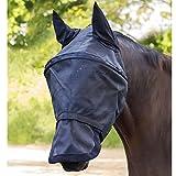 Waldhausen Premium Fliegenmaske Space, mit Ohren- und Nasenschutz, schwarz, Pony