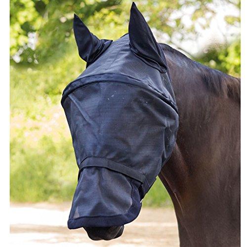 WALDHAUSEN PREMIUM Fliegenmaske SPACE, mit Ohren- und Nasenschutz, schwarz, Warmblut