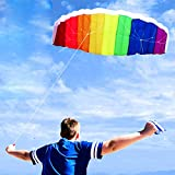 Rainbow Kites For Children And Adults Dual Line Stunt Kids Kite With Handle