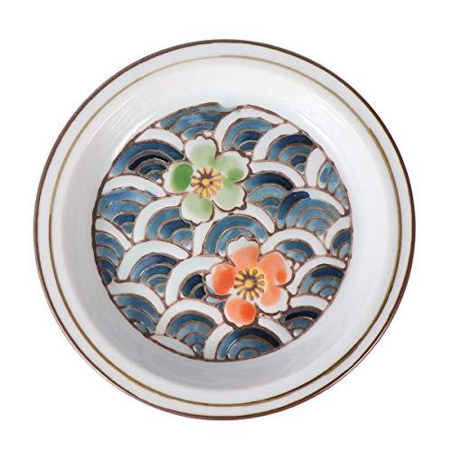 Toyandona – capa de cerâmica japonesa para pires de chá estampados com tampa de copo redondo multiuso criativo (estilo de flor japonês)