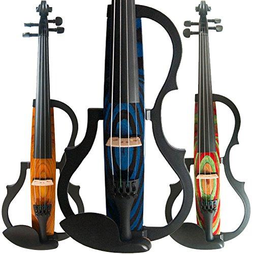 Aliyes Handmade professionale Silent professionale legno massello Student violino violino elettrico 4/4completo per principianti violino string kit, spalliera, colofonia, SDDS-N-009