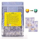 Silica Gel Desiccants Packets Dehumidifiers Fast Reactivate Food Grade Moisture Absorber Bags with Indicating Beads for Closet Gun Safes Basement Storage.(50 Packs, 3 Gram)