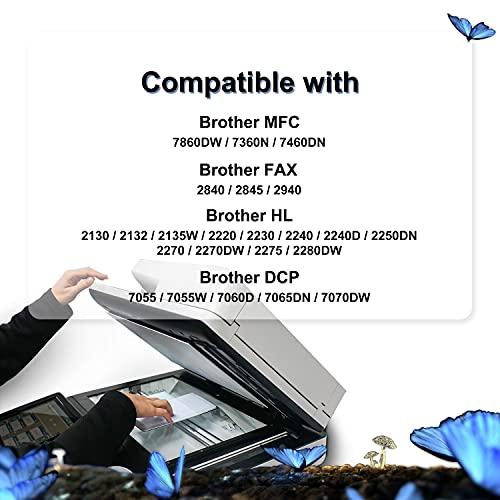 LOSMANN DR2200 Tambour Compatible DR-2200 DR 2200 Reemplazo para Brother MFC-7360N DCP-7055 HL-2130 MFC-7460DN HL-2240 HL-2240D HL-2250DN FAX-2840 FAX-2940 DCP-7055W DCP-7055 DCP-7060D 1x Trommel