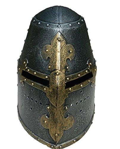 Mittelalterlicher Ritterhelm für Kinder. Kreuzfahrerhelm. Kostümaccessoire. Spielhelm