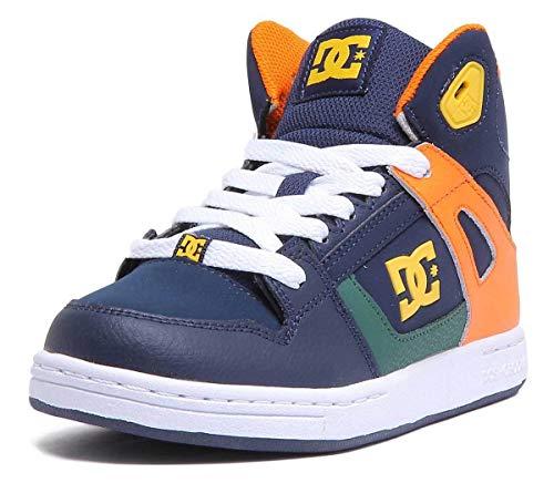 DC Shoes Pure Hi - Zapatos Altos de Cuero para Niños ADBS100242
