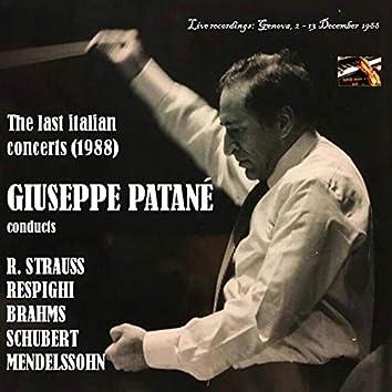 Giuseppe Patané: The last italian concerts (1988) (Live)