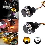 R REIFENG 2pcs Motorcycle Turn Signals Bulb Indicators Blinkers Lights Motorcycle Handlebar End Light Plug Side Marker Lamp Accessory
