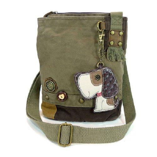 Chala Handbag Patch Crossbody Toffy Dog Dk Olive Green Bag
