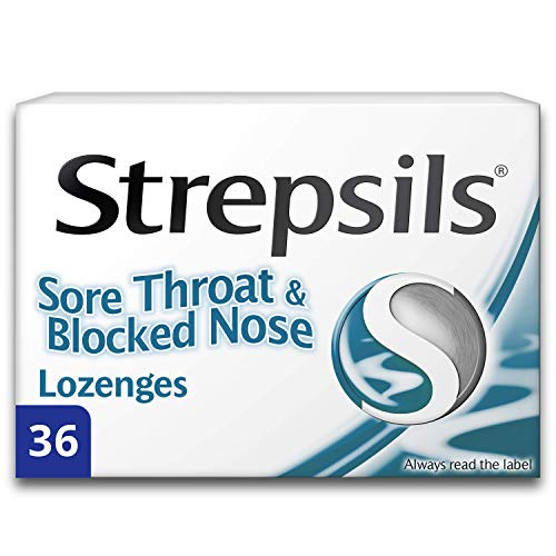 Strepsils Sore Throat & Blocked Nose Lozenges, Pack of 36