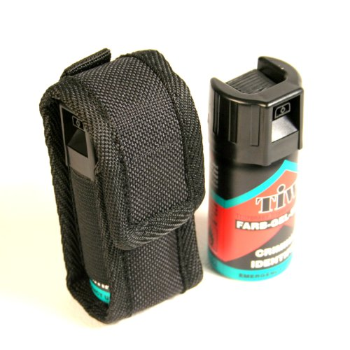 Protec TIW FARB gel self defence spray with genuine belt pouch.