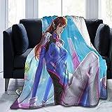 Guwafa8 Overwatch Diva Ultra-Soft Micro Fleece Blanket for Adult Anti-Fleece Blanket, Microfiber Bedding, Super Soft and Comfortable Luxury Sofa Blanket