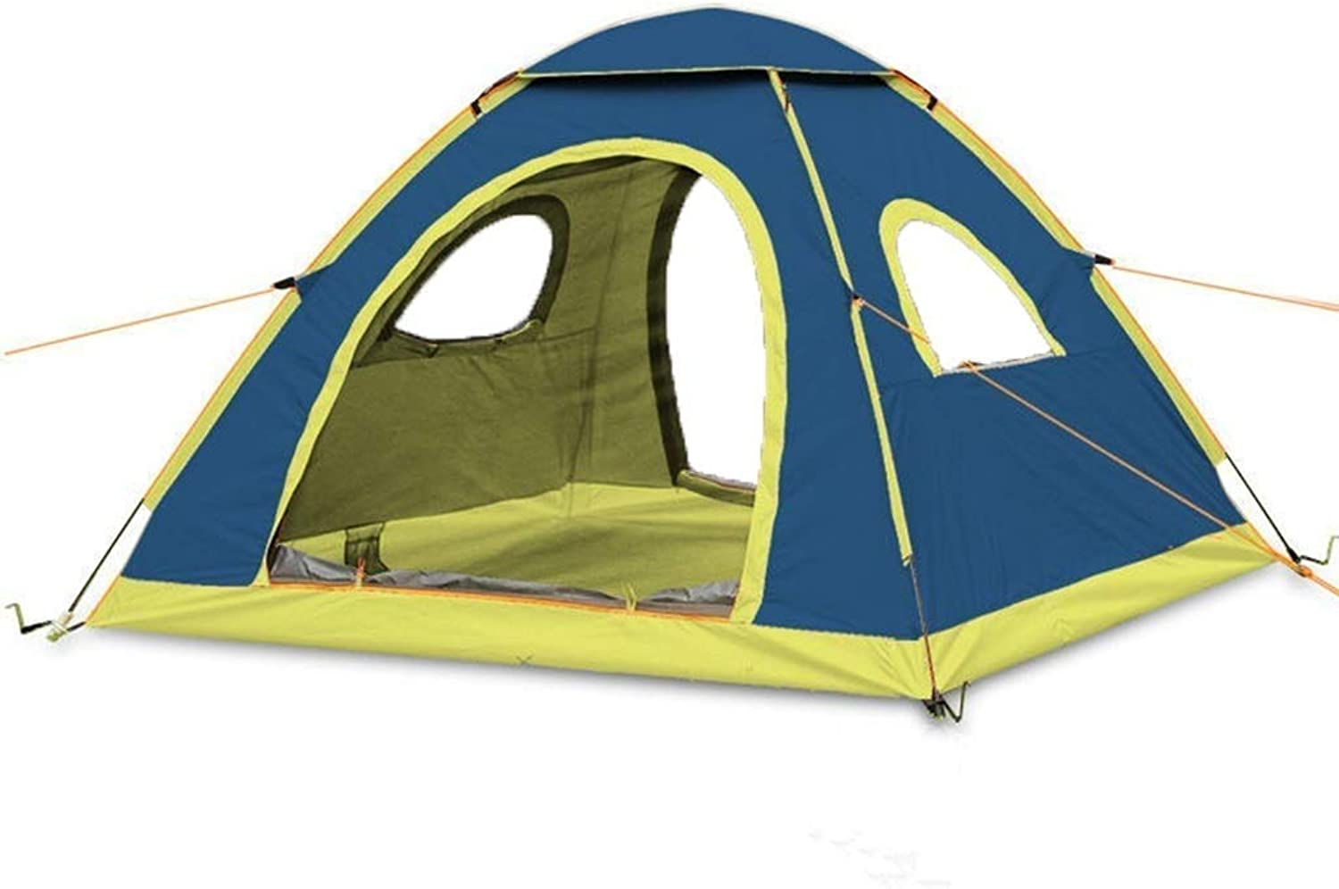 IRVING Outdoor 14 People Double Speed Open Family Camping Tent (color   blueee)