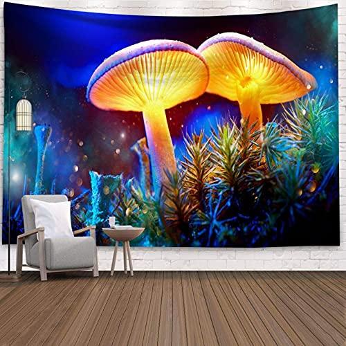 Tapiz de pared Lámpara de hongos colgar en la pared, regalo, arte de pared, tapiz, decoración del hogar, decoración de pared mística para el hogar, dormitorio, sala de estar150X130cm