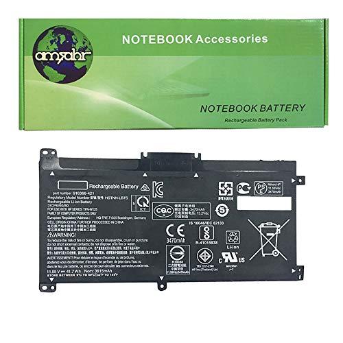 Amsahr BK03XL 02 Ersatz Batterie fur HP BK03XL 916366 541 916811 855 HSTNN UB7 GHp TPN W125 Schwarz