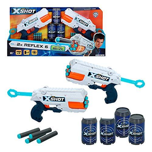 X-Shot - Pack 2 pistolas Reflex 6 X-Shot Excel + 6