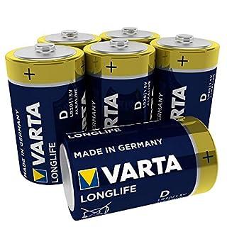 VARTA Longlife Batterie D Mono Alkaline Batterien LR20, 6er Pack (B000EGSGQA) | Amazon price tracker / tracking, Amazon price history charts, Amazon price watches, Amazon price drop alerts
