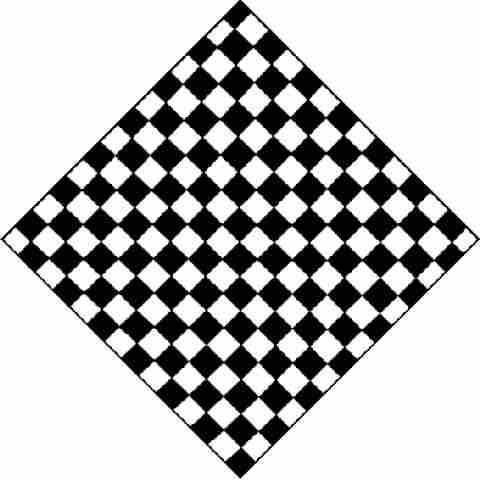 nero bianco A QUADRI scacchiera a quadretti scacchiera BANDANA