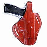 KoHolster Concealed Carry Belt OWB Leather Gun Holster for Sig P229-P228|3.9 inches|Right Handed|Brown