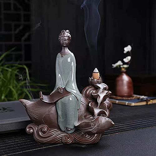 Quemador de incienso, quemador de incienso, decoración de cerámica para el hogar y la oficina
