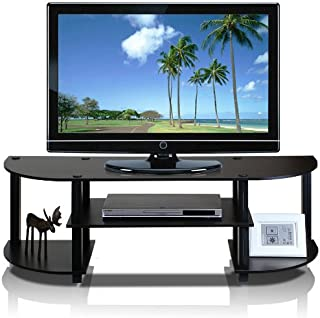 Furinno 11058EX/BK Turn-S-Tube Wide TV Entertainment Center, Espresso/Black