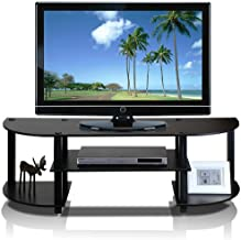Furinno Turn-S-Tube Wide TV Entertainment Center, Espresso/Black