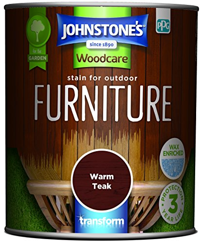 Johnstone's 309333 Woodcare Stain for Outdoor Furniture, Warm Teak, 750 ml