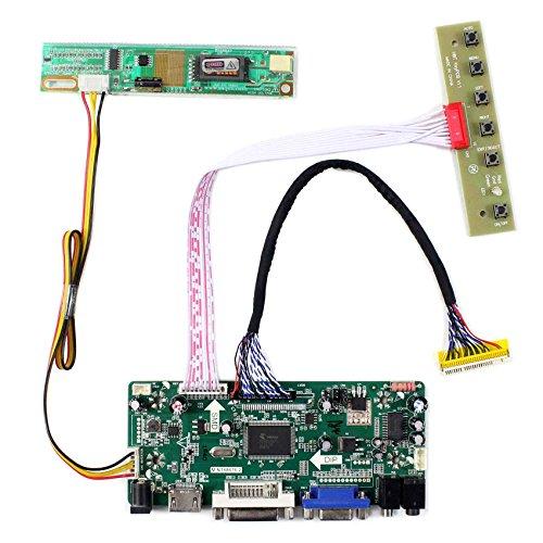 HDMI + VGA + DVI + Audioeingang LCD-Controller-Karte für CLAA154WP05 B170PW03 15,4