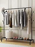 Lukzer 1 PC Multipurpose Clothes Rack with Bottom Shelves, Closet Organizer Coat Hanger/Freestanding