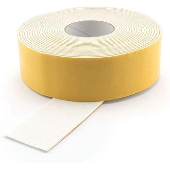 10 mm Filzklebeband 3 mm stark Filzstreifen weiss Filzband selbstklebend Breite