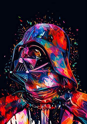 5D Full Drill Star Wars Diamantmaler-Set, UNIME DIY Diamant Strass Malerei Kits für Erwachsene und Anfänger Diamond Arts Craft Home Decor, 30 x 40 cm (Star Wars Diamantmalerei)