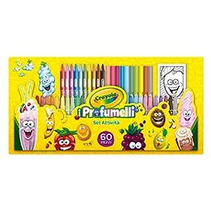 CRAYOLA-I Profumelli Set attività per Disegnare con Colori Profumati, per Gioco e Regalo, 60 Pezzi, 04-0371